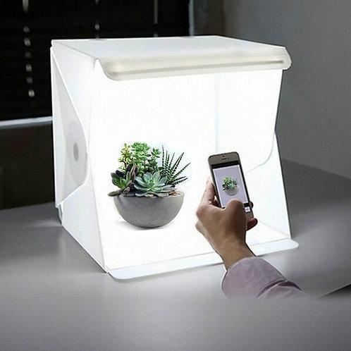 Cubo caja de luz con led 23cm x 23cm