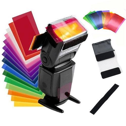 Geles de color para flash de zapata