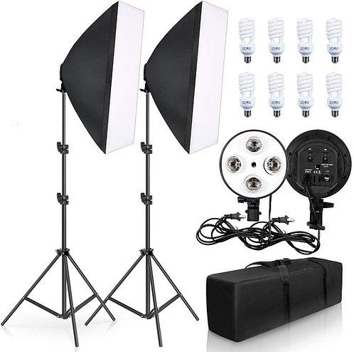 Kit de iluminación softbox 680 watts