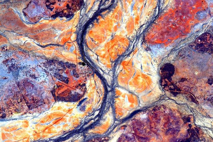 El astronauta Scott Kelly publicó esta foto de Australia tomada desde la Estación Espacial Internacional