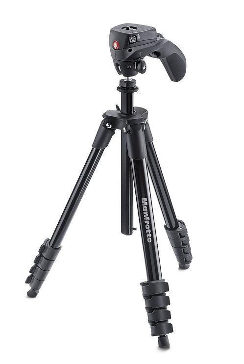 Trípode Manfrotto Compact Action - MKCOMPACTACN-BK