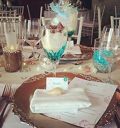 Détails à table, personalisation, marque place, cadeaux d'invité