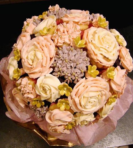 Le bouquet de cupcake de princesse Elsa