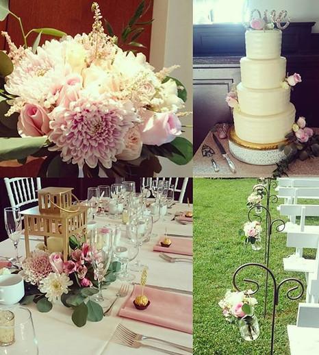 A pink wedding is always a good idea!  C