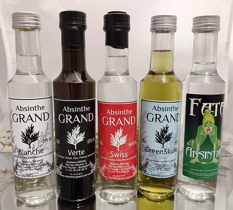 Coffret 5 Absinthes (5 x 25cl)