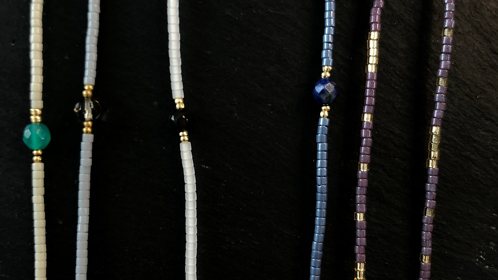 Bracelets with tiny bead or pearl