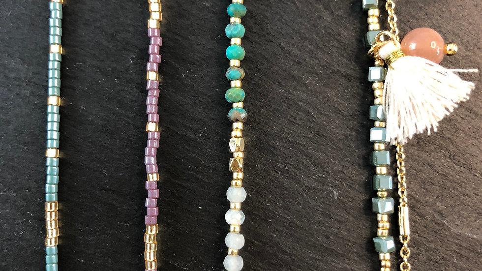 Tiny bead bracelets