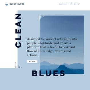 Clean Blues Web
