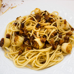 Vegan Scallop Spaghetti with Mushroom XO Sauce