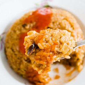 Spicy and Sweet Mushroom Sticky Rice
