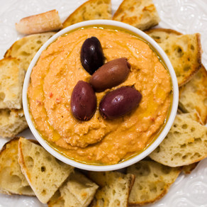 Vegan Roasted Pepper Hummus