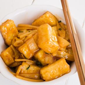 Crispy and Saucy Tofu Stir Fry