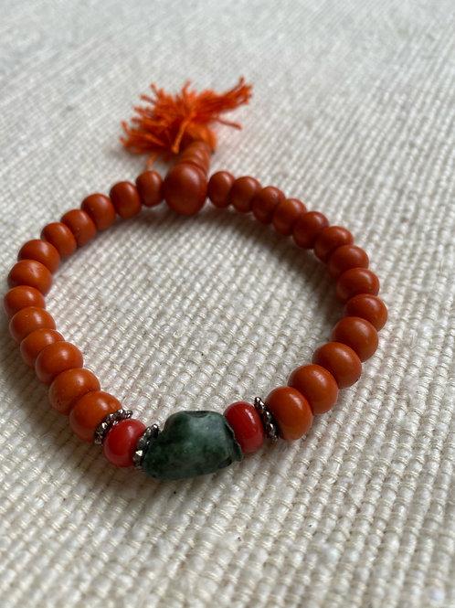 Orange Japa bracelet