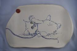 Playful Kitten Platter