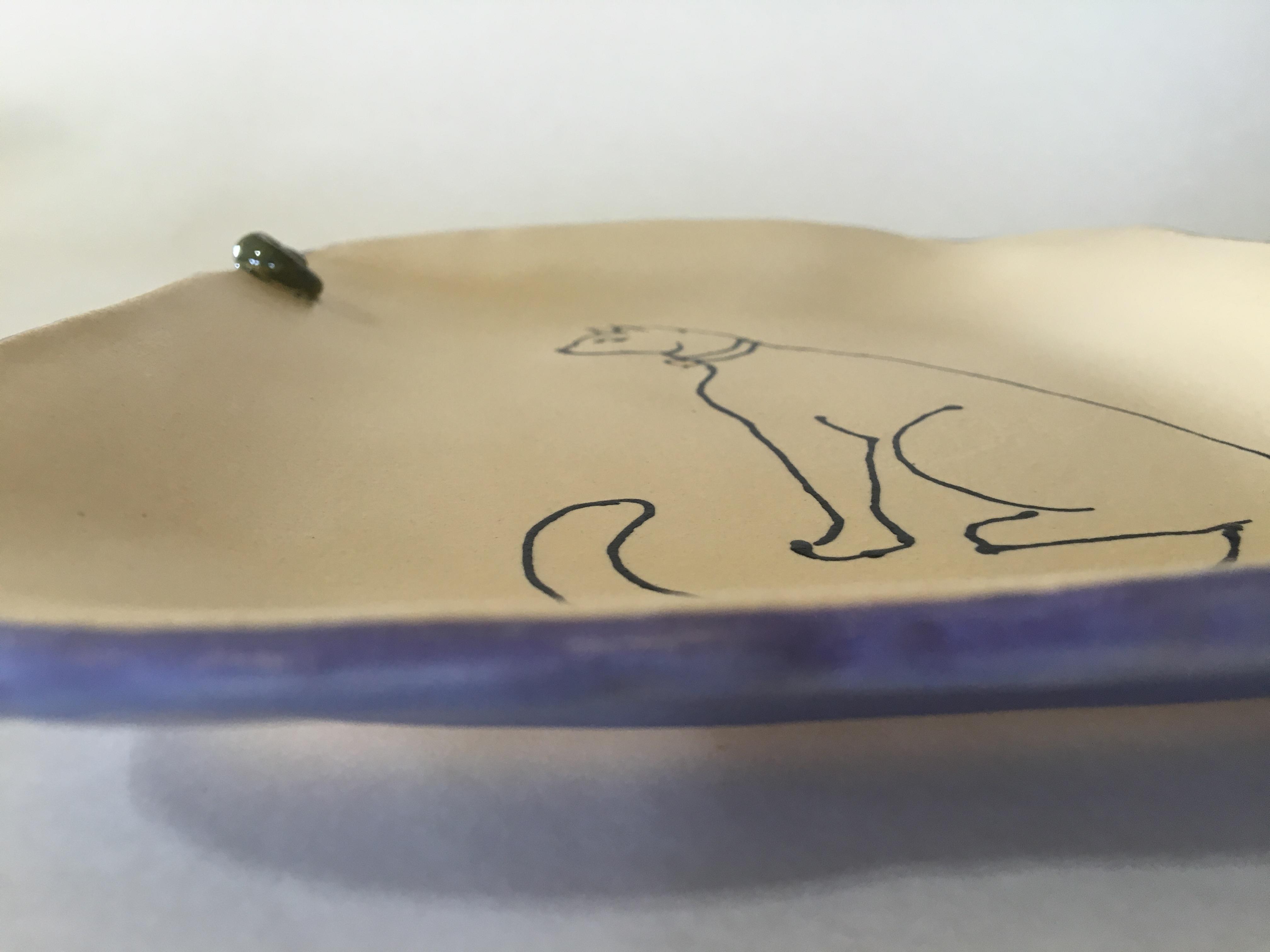 Cat Platter side view