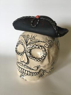 Hey Baby! Skull #4 cookie jar