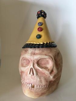 Party Skull #1 cookie jar