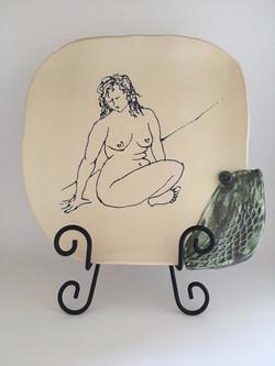 Seated Figure Platter