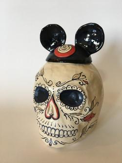 Mickey Skull cookie jar