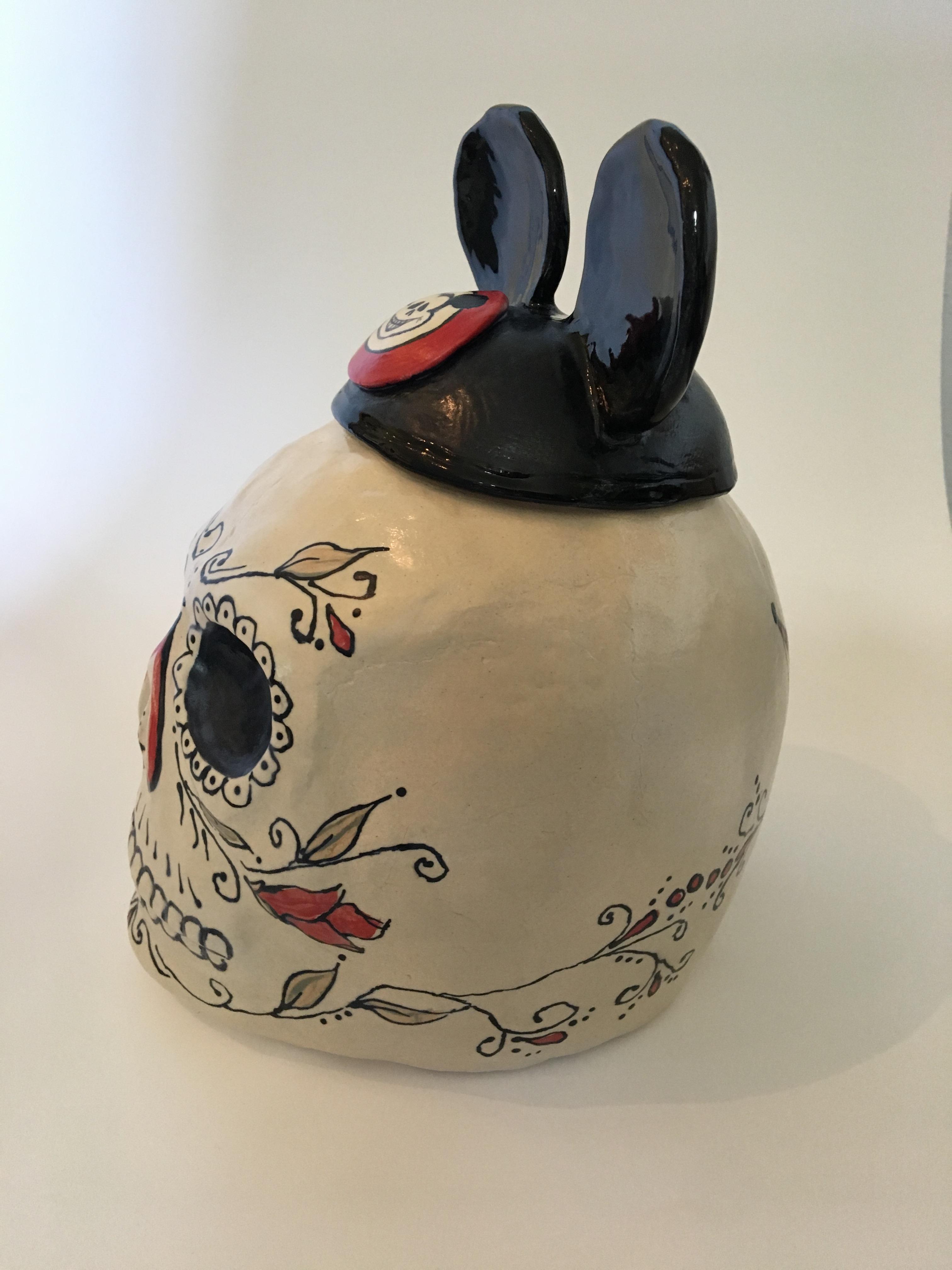 Mickey Skull cookie jar #3