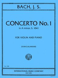 photo of cover of A minor violin cocerto