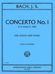 photo of cover of A minor violin cocerto