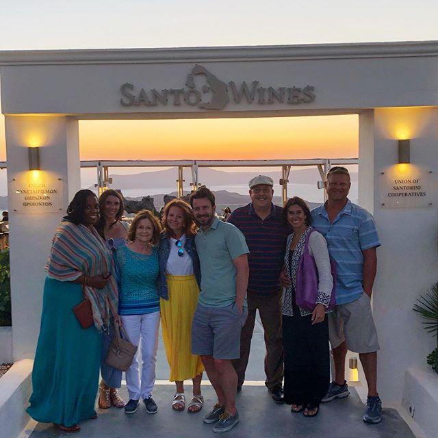 The fun continues in Santorini with fami