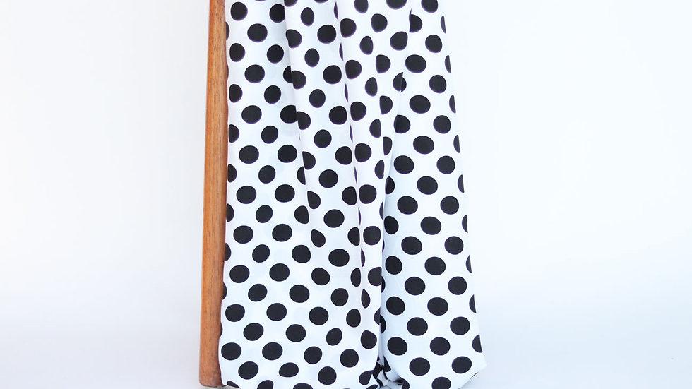 Dali Poplin Print White/Black Dots