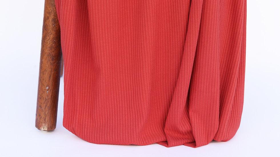Bamboo Rib Knit Clay