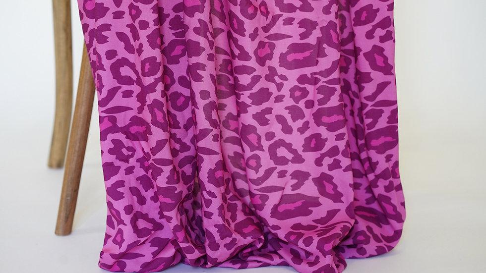 Mimi G Rayon Leopard Fuschia