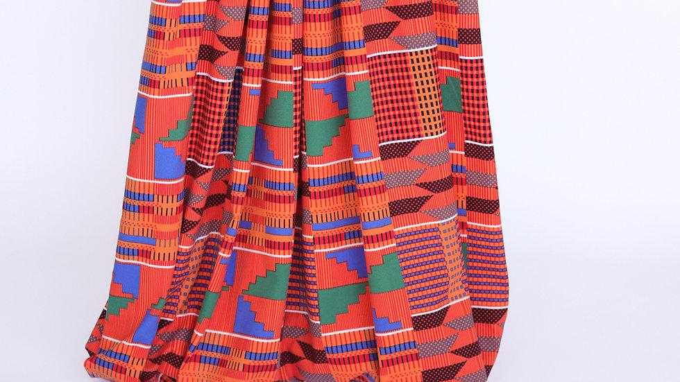 Double Brushed Knit: Kente Print