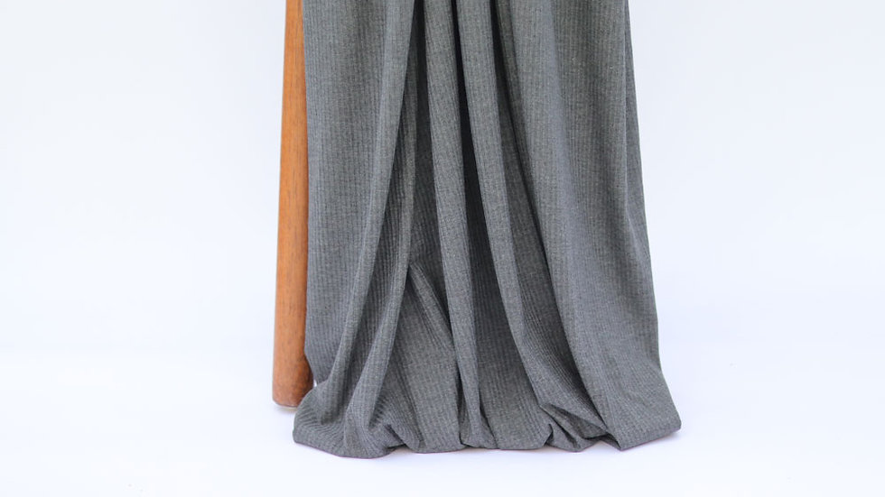 Bamboo Rib Knit Dark Grey