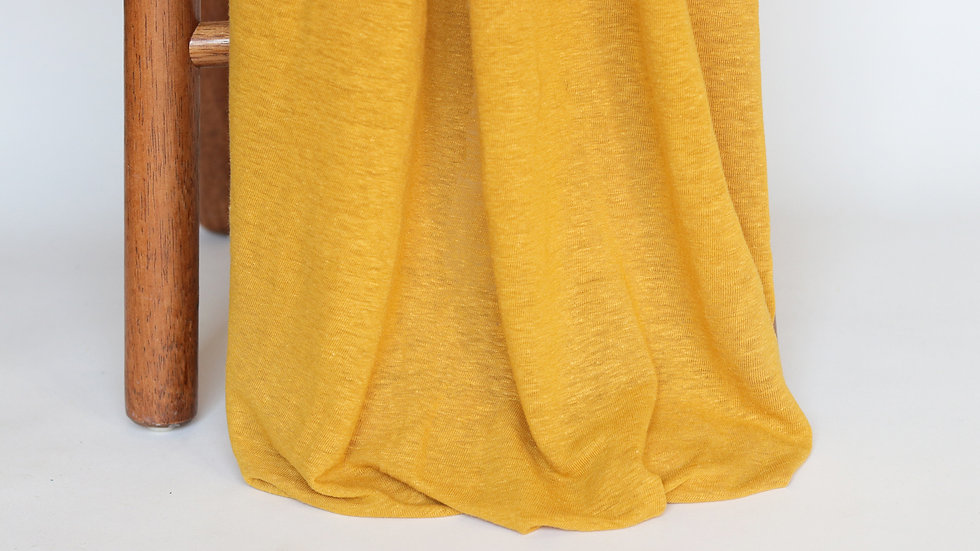 Linen Rayon Knit Turmeric