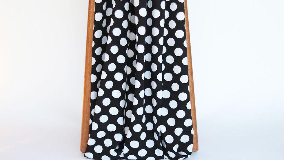Dali Poplin Print Black/White Dots