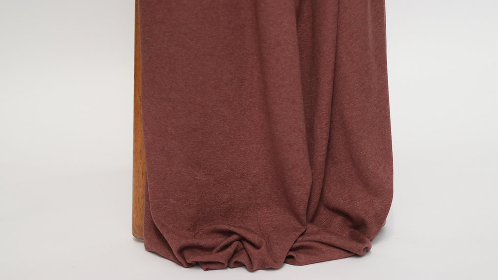 Rayon Cotton Modal Sweater Knit Raisin