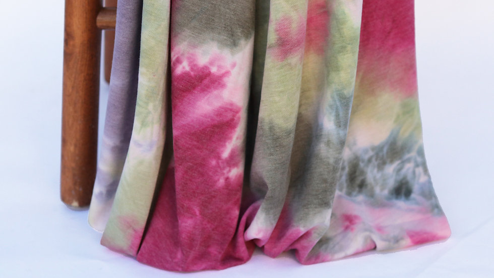 French Terry Tie Dye Pink
