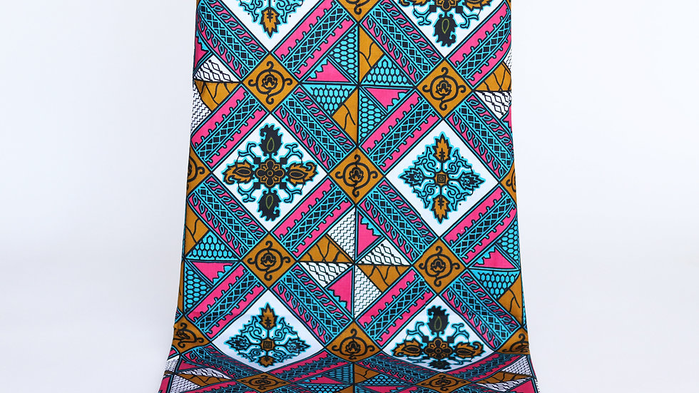 African Print Gold/Turquoise