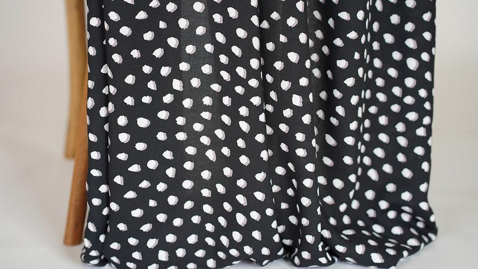Mimi G Rayon Dots Black