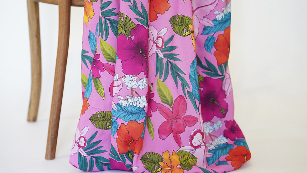 Mimi G Rayon Floral Pink