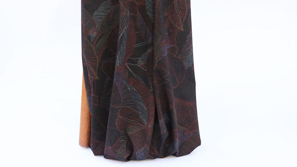 Ponte Knit Leaf Print