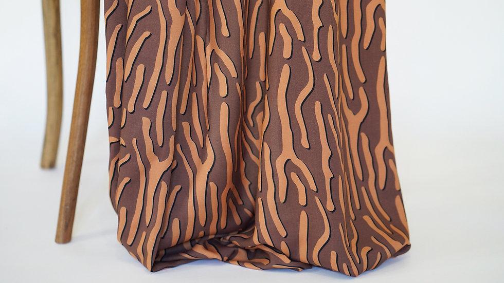 Mimi G Rayon Zebra Brown