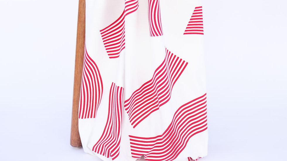 Perla Knit Print Red