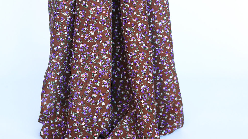 Rayon Print: Brown/Purple
