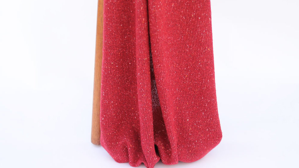 Speckle  Sweater Knit Red