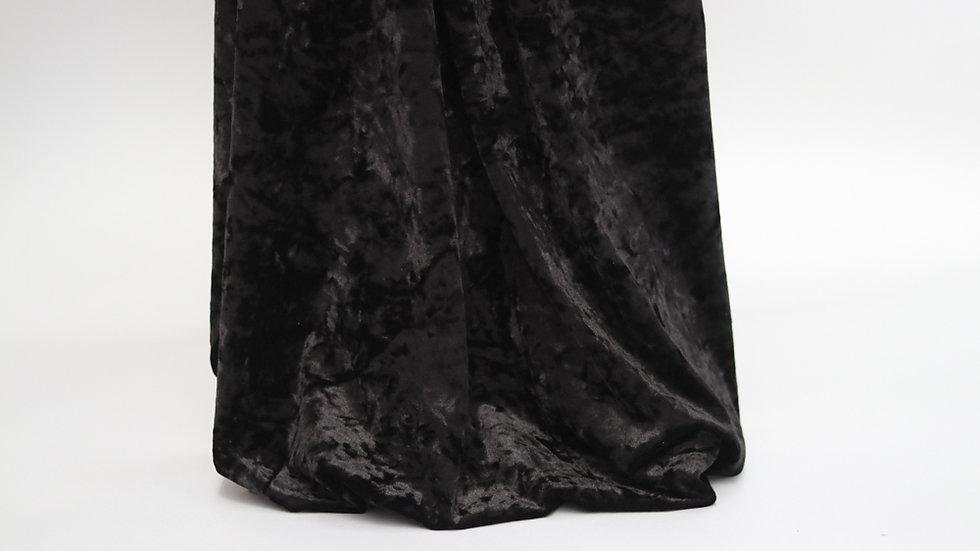 Stretch Panne Velvet Black