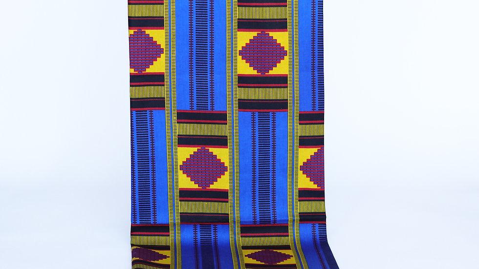 Kente African Print: Blue/Yellow