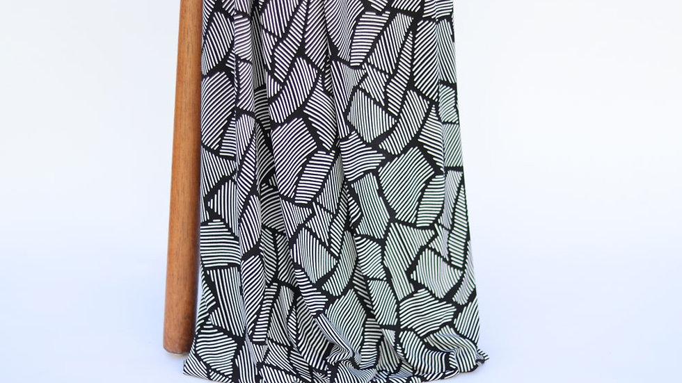 Brazil Print Knit Black