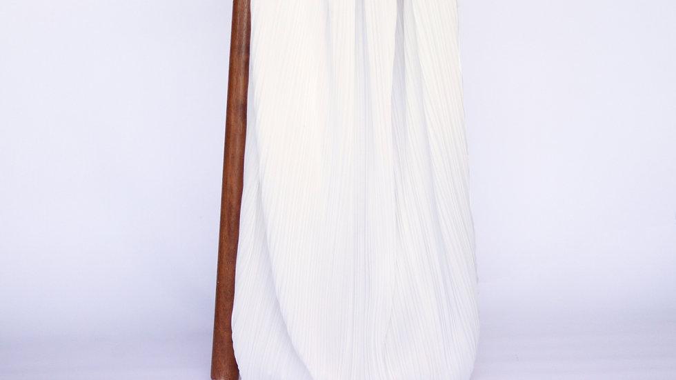 Pleated Ivory