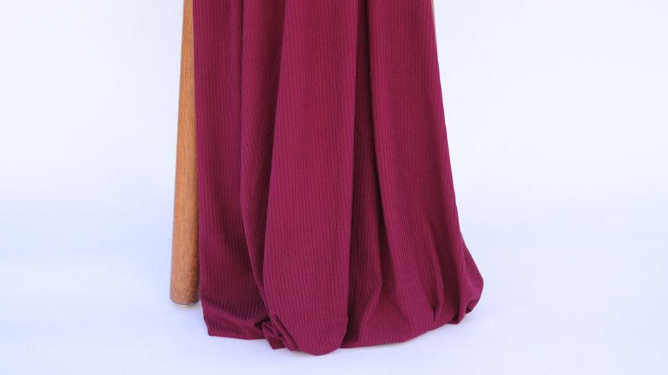 Bamboo Rib Knit Bordeaux