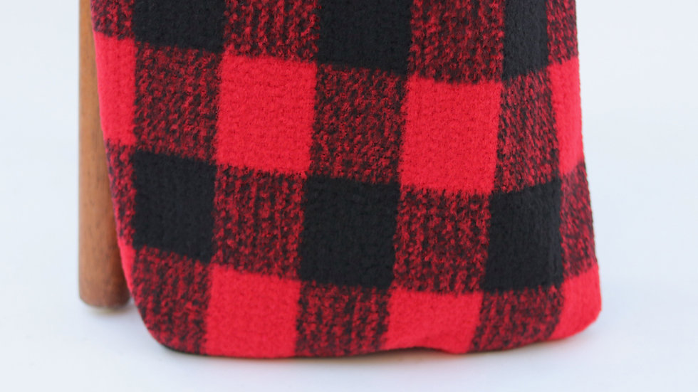 Addison Plaid Red Black